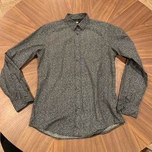 Diesel gray button up shirt, casual slim fit